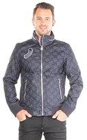 G Star Men's New Fallden Bomber Jacket in RFTO 01 Denim Allover Print