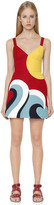 RED Valentino Intarsia Cotton Cady Mini Dress