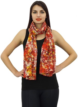 Phagun Indian Women Neck Wrap Digital Print Scarf 100% Cotton Lightweight Shawl