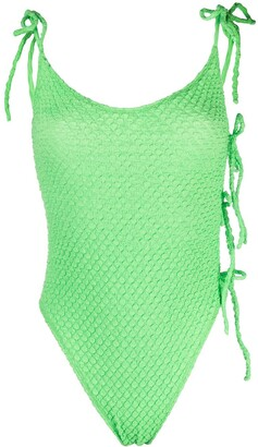 ACK Textured Slim-Cut Swimsuit