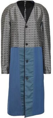 Maison Margiela Paneled Jacquard And Twill Coat