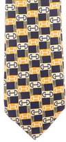 Gucci Horsebit Print Silk Tie