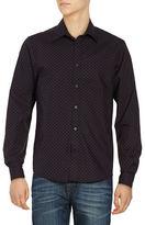 Ben Sherman Long Sleeved Mod Checked Print Sportshirt