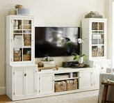 Pottery Barn Logan Media Suite with Glass Towers, Antique White