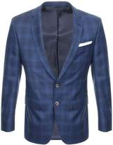 BOSS HUGO BOSS Hutson Checked Jacket Blue