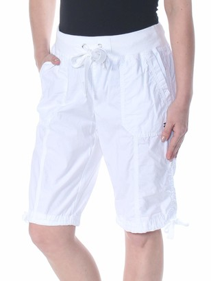 Tommy Hilfiger Women's Convertible Cargo Bermuda Short with Ribbed Waistband