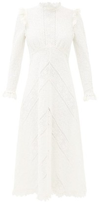 Zimmermann Brighton Floral-lace Midi Dress - Ivory