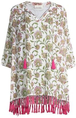 Roller Rabbit Vine Floral Fringe Tunic