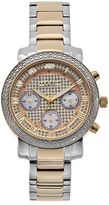 Akribos XXIV Women's Lux Diamond Stainless Steel Chronograph Watch
