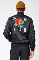Obey Spider Rose Satin Jacket