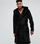 Asos Tall Fleece Hooded Dressing Gown