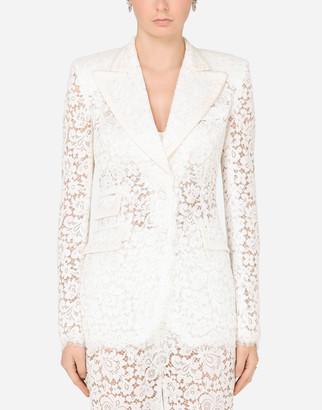 Dolce & Gabbana Lace Jacket With Edge Detailing