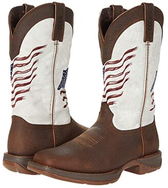Durango Rebel 12 Flag (Bay Brown/White) Cowboy Boots
