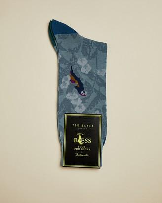 Ted Baker PERRSOC Parrot print cotton socks
