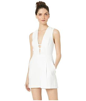 BCBGMAXAZRIA V-Neck Cut Out Jumpsuit