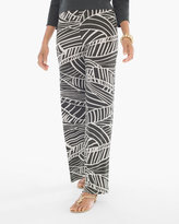 Chico's Linear Leaves Palazzo Pants