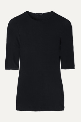 Gold Sign The Bound Ribbed Stretch-jersey T-shirt - Navy