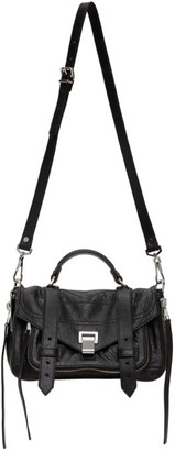 Proenza Schouler Black Tiny Zip PS1 Messenger Bag