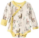 Finn + Emma + emma Llama Long Sleeve Bodysuit (Infant) (Llama) Kid's Jumpsuit & Rompers One Piece