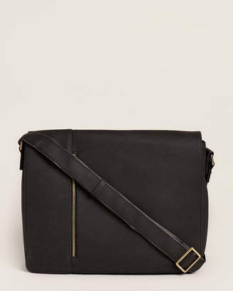 Pavia Black Laptop Messenger Bag