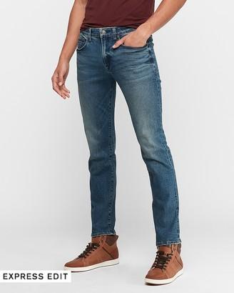 Express Slim Straight Medium Wash Hyper Stretch Jeans