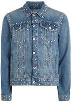 Topman Studded Blue Denim Jacket