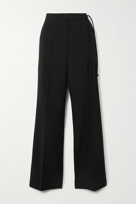 LE 17 SEPTEMBRE Tie-detailed Crepe Wide-leg Pants - Black