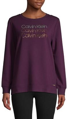 Calvin Klein Sequin Cotton-Blend Sweatshirt