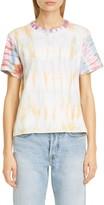 John Elliott Reconstructed Tie Dye Crop T-Shirt