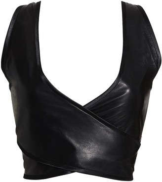 Something Wicked Lexi Leather Wrap Over Soft Cup Bra