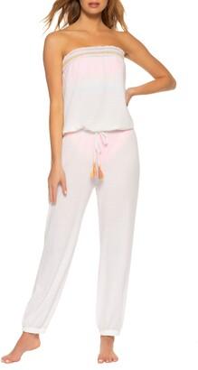 Soluna Malibu Strapless Tie Waist Jumpsuit