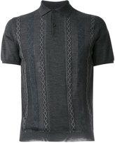 Prada patterned polo shirt - men - Virgin Wool - 50
