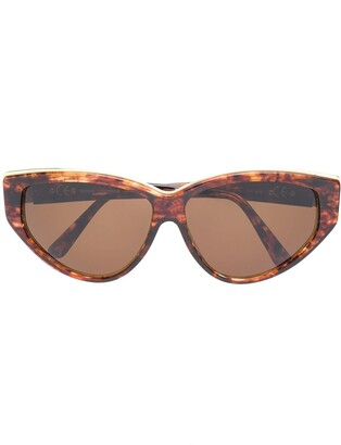 Paco Rabanne Pre-Owned 1980's Tortoiseshell Metal Detail Sunglasses