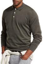 Brunello Cucinelli Long-Sleeve Polo Shirt