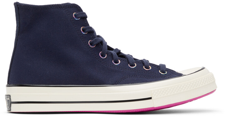 Thumbnail for your product : Converse Navy Heart Of The City Chuck 70 Hi Sneakers