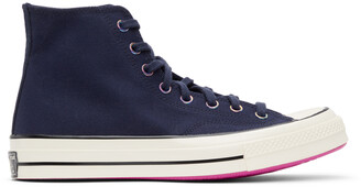 Converse Navy Heart Of The City Chuck 70 Hi Sneakers