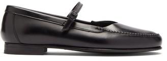 Hereu Anya Leather Loafers - Womens - Black
