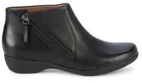 Dansko Fifi Leather Side-Zip Booties