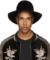 Diet Butcher Slim Skin Black Felt Wide Brim Hat