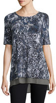 Context Mock Layered Floral Printed Top