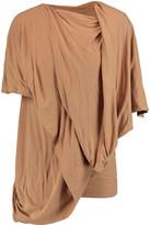 Rick Owens Lilies Aida draped jersey top