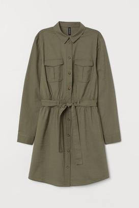 H&M Cotton Utility Dress - Green
