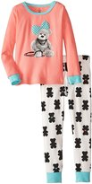 Petit Lem Little Girls' M407 Heart Of A Bear - 2pc L/s Top and Knit Pants