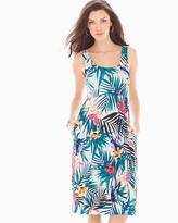 Soma Intimates Sleeveless A-Line Short Dress Palmscape Ivory
