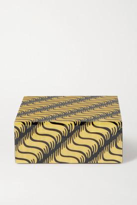 Smythson Marquetry Wood Box - Yellow