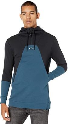 Oakley Snowdrop DWR Fleece (Black/Blue) Women's Sweatshirt
