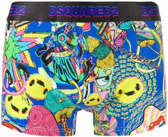 DSQUARED2 Kaleidoscopic Print Boxers