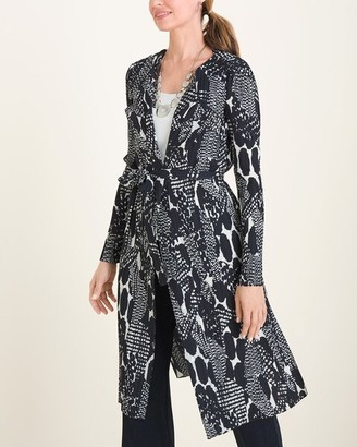 Travelers Collection Pleated Printed Jacket