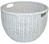 Pillowfort Rattan Basket Round White