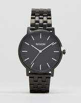 Nixon Porter Bracelet Watch In Black